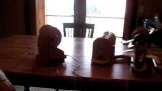 Hansen mini-spinner and Butterfly e-spinner noise levels