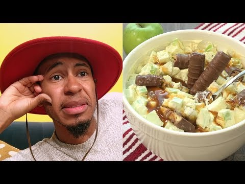 OMK! Kalen Allen Reacts to Apple Twix Salad Recipe