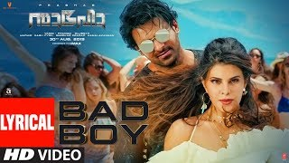 Saaho: Bad Boy Lyrical Song | Prabhas, Jacqueline Fernandez | Badshah, Benny Dayal, Sunitha Sarathy