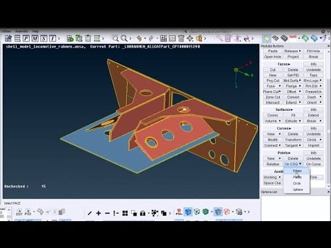 Ansa FEM shell mesh tutorial for total beginners - longer - version 1