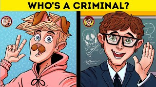 NOT GUILTY?!🕵️‍♀️ CRIME RIDDLES WITH ANSWERS