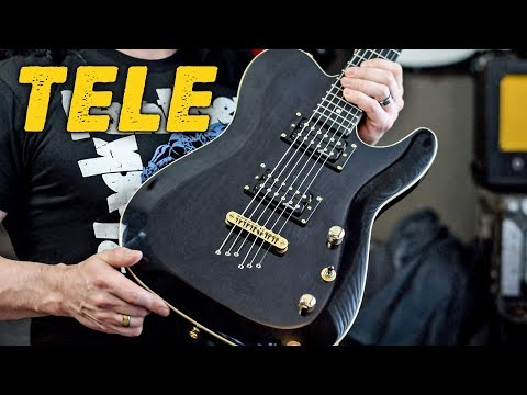 Beautiful, Carved Top Telecaster at a GREAT PRICE! (Harley Benton TE-40) - Demo / Review