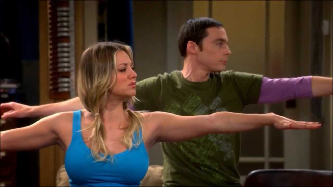 Penny & Shelly doin Yoga + where are penny & leonard going (TBBT: 7X13 The  Occupation Recalibration)