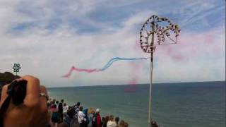 Red Arrows Performing At The Cromer Carnival