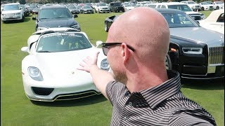 SNOBBY car show cost $950 to enter but its outside parking lot was more exciting..
