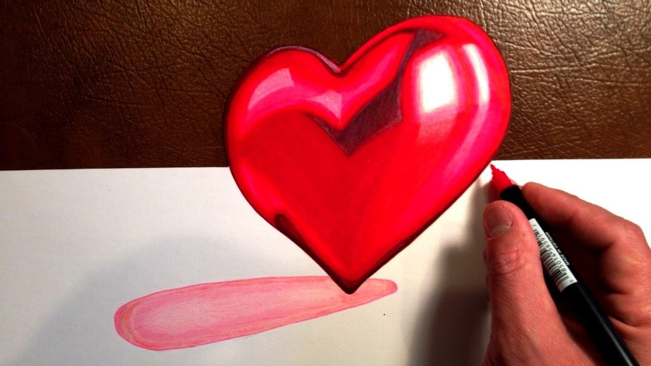Beautiful Heart 3d Trick Art Youtube
