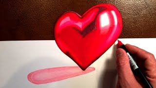 Beautiful Heart - 3D Trick Art