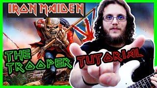 TUTORIAL CHITARRA e TAB - THE TROOPER - IRON MAIDEN - come suonare il riff