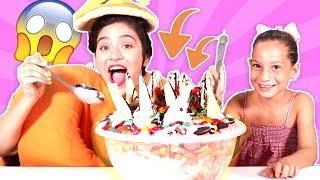 فوزي موزي وتوتي – DIY مع المندلينا | تحدي البوظه | Ice cream challenge