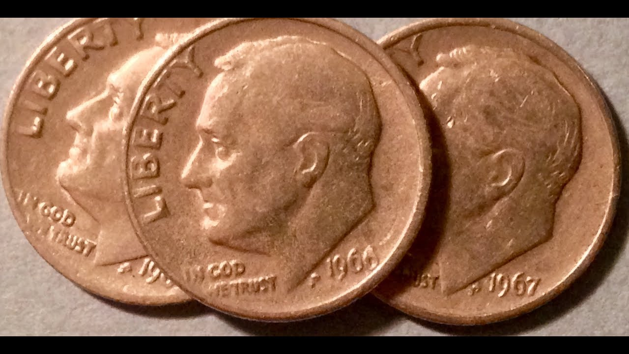 No Mint Mark Dimes: 1966 (Over 1 Billion Made)