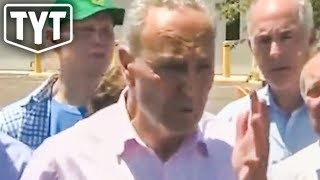 """Chuck Schumer Visits """"Awful Conditions"""" At Border"""