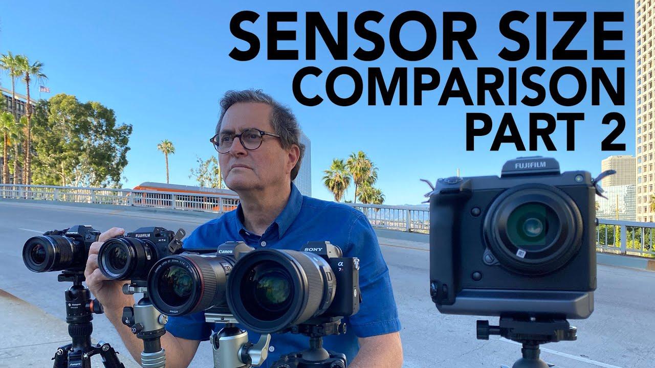 Does Sensor Size Really Matter Camera Sensor Size Comparison Part Two Youtube
