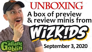 Unboxing a box of preview and review minis from WizKids! - Sept. 3, 2020