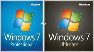 Windows 7 Professional vs Ultimate Comparison!