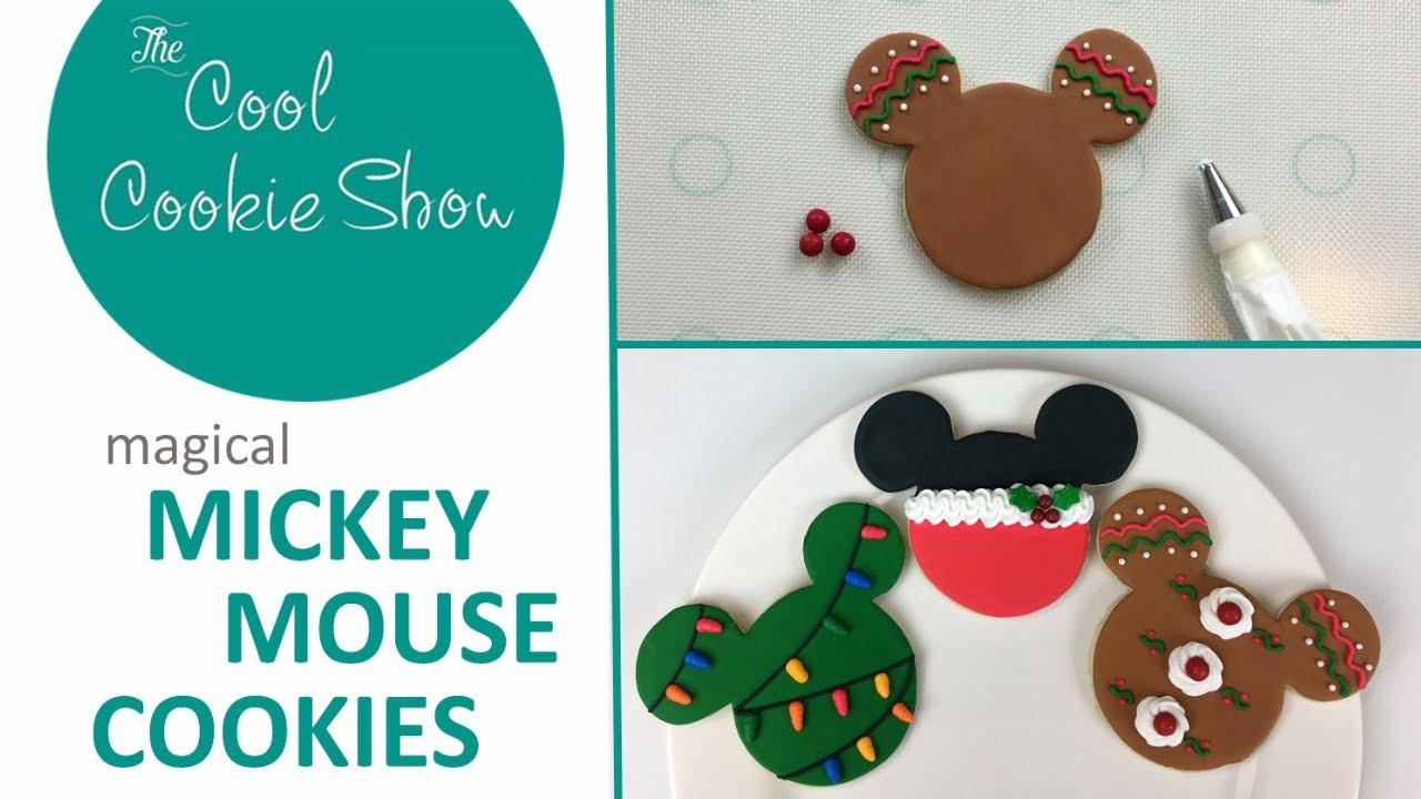 magical mickey christmas cookies - Mickey Mouse Christmas Cookies