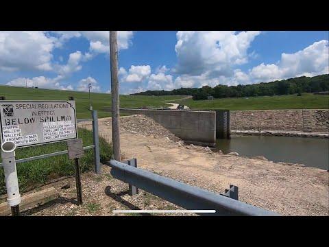 Hillsdale Lake Spillway Fishing For Big Fish