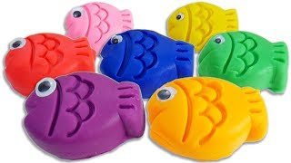 Learn Colors with Play Doh Fish Shapes