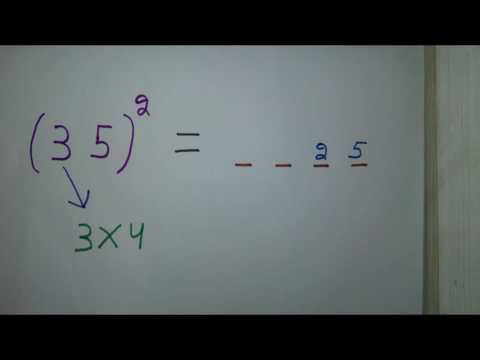 [Hindi] To Find Square of 15, 25, 35, 45, 55, 65............  without Calculation