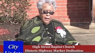 High Street Baptist Church Highway Marker Dedication - River City TV - Danville,Virginia