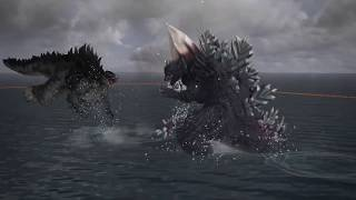 GODZILLA PS4: SpaceGodzilla Vs Type-3 Kiryu Vs Godzilla 2014