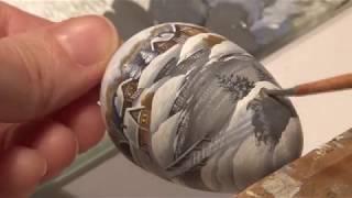 Роспись ёлочной игрушки. Быстрое рисование. CHRISTMAS-TREE DECORATIONS. Miniature drawing