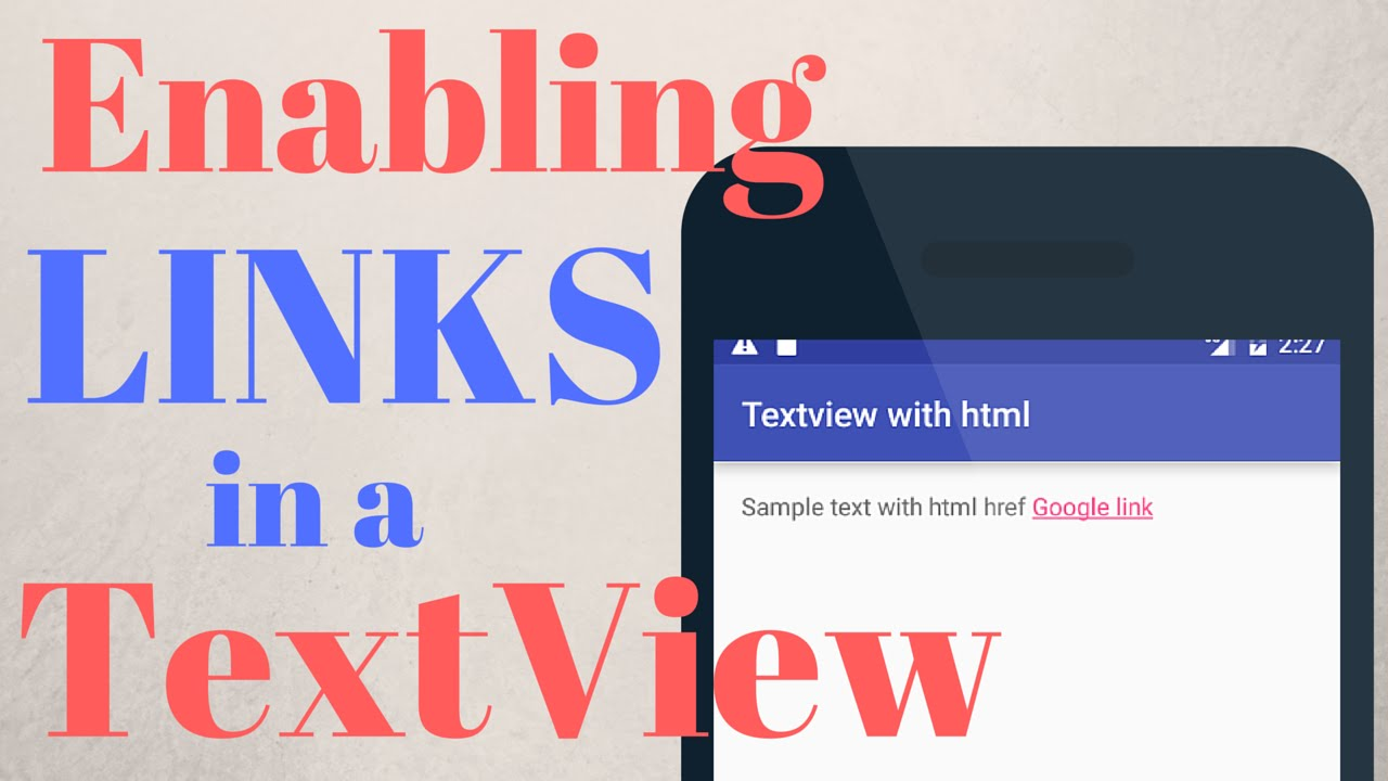 ADDING LINKS INSIDE A TEXTVIEW - (Android Development)