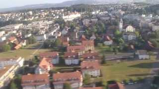 スイスチューリッヒ空港着陸 Zurich Airport