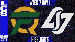 FLY vs CLG Highlights | LCS Summer 2019 Week 7 Day 1 | FlyQuest vs Counter Logic Gaming