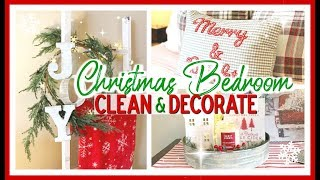 CHRISTMAS CLEAN & DECORATE WITH ME 2019   CHRISTMAS MASTER BEDROOM DECOR