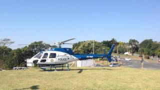 South African Police Services Helicopter Takeoff