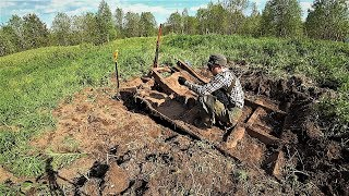 Выкапываю часть трактора Трелевочный ТТ 4. НАХОДКА  которая не дает мне покоя!
