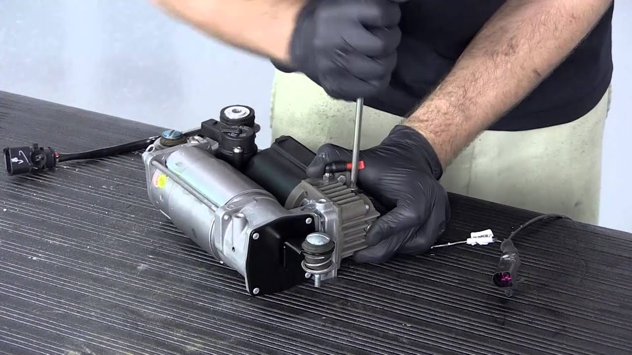 replacing the air suspension compressor on the cayenne