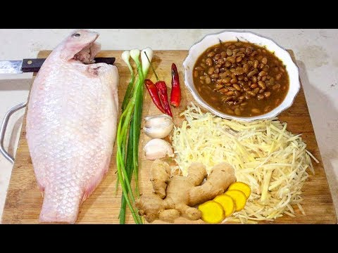 Fried Fish Ginger - Asian Food Recipes, Cambodian food Cooking, Village Food Factory