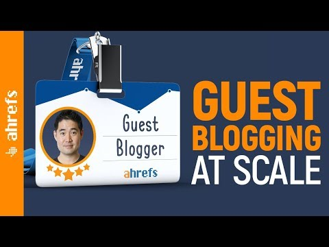 Guest Posting at Scale: Get Tons of High Quality Backlinks