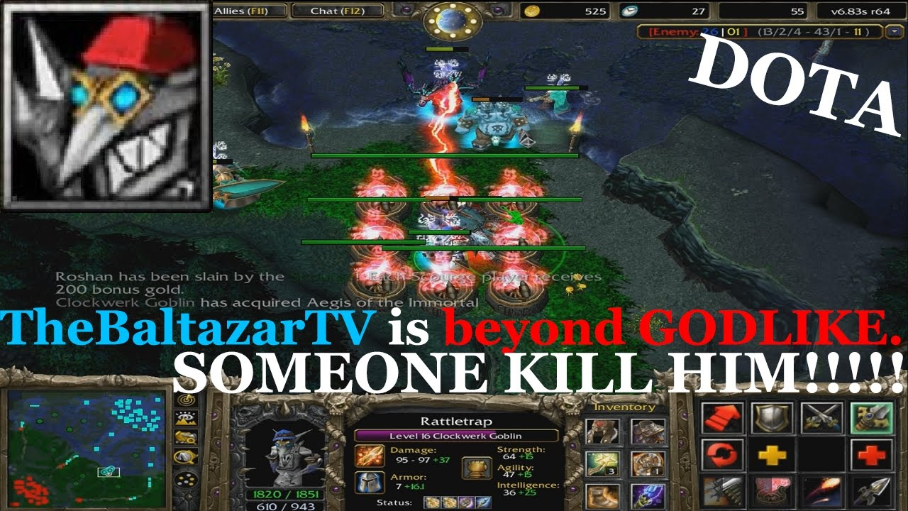 dota 1 clockwerk pro rocket kill beyond godlike youtube