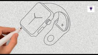 How to draw smartwatch on paper simple tricks