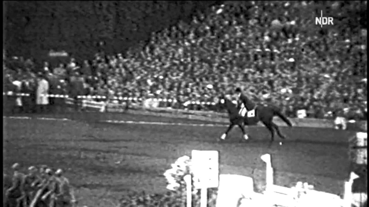 Download Hans Günter Winkler on Halla winning the Olympic Gold in Stockholm 1956