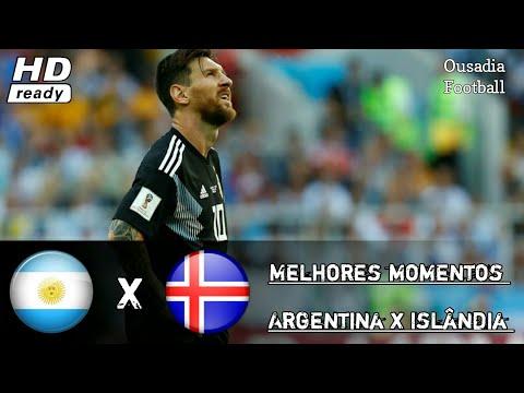 Argentina x Islândia : Melhores momentos  {16/06/18} sábado / Em HD