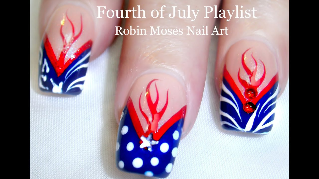 Easy Diy 4th Of July Nail Art Design Tutorial Youtube