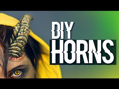 how to make horns for halloween