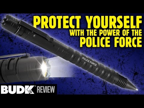Police Force Tactical Pen LED Flashlight DNA Collector Self Defense Pen - $19.98