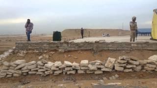 قناة السويس الجديدة مصر: الحفر يصل منصة الافتتاح وبدء ازالة جوانبها