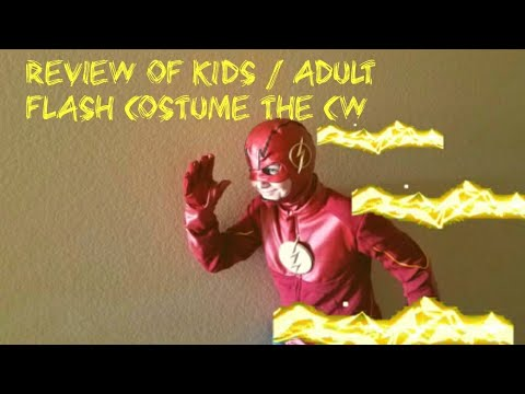 Review Of Kids Adult Cw Flash Costume Youtube