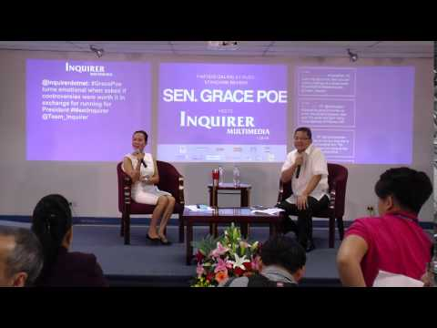 Grace Poe meets Inquirer Multimedia - January 28, 2016