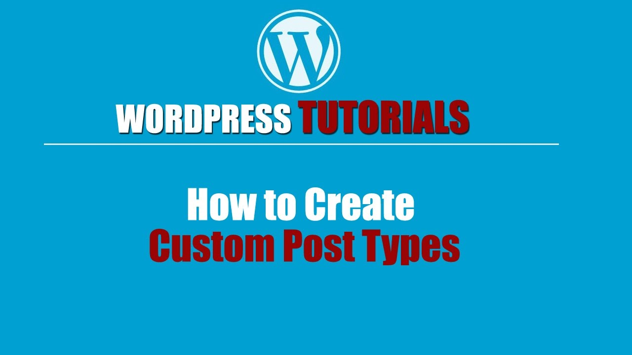 Wordpres Tutorial-Wordpress Training-How to Create Custom Post Types