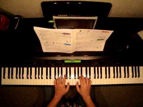 how to play cheers on piano