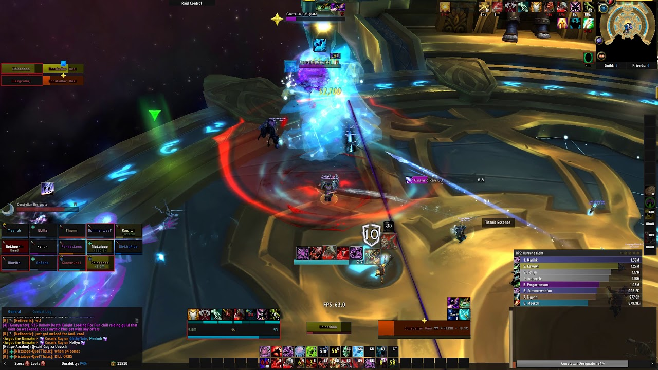 R5 1600 + RX 580 World of Warcraft Raid Test: Argus The Unmaker