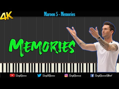 4k Maroon 5 Memories Easy Piano Tutorial Sheet Music By Suraj Khanna Pianoteachers