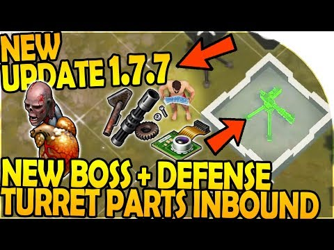 NEW UPDATE 1.7.7 - NEW BOSS + DEFENSE TURRET PARTS INBOUND - Last Day On Earth Survival 1.7.7 Update