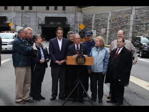 Mayor Bloomberg Joins Governor Cuomo to Tour Damage of Hugh L. Carey Tunnel